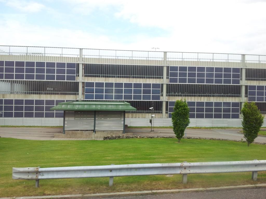 Sist men inte mins solceller vid Landvetter flygplats